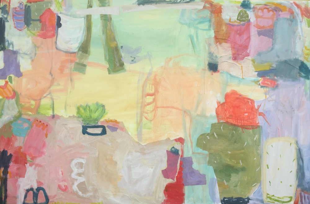 """Prickly Pear  48""""x72"""" mixed media on canvas  SOLD"""
