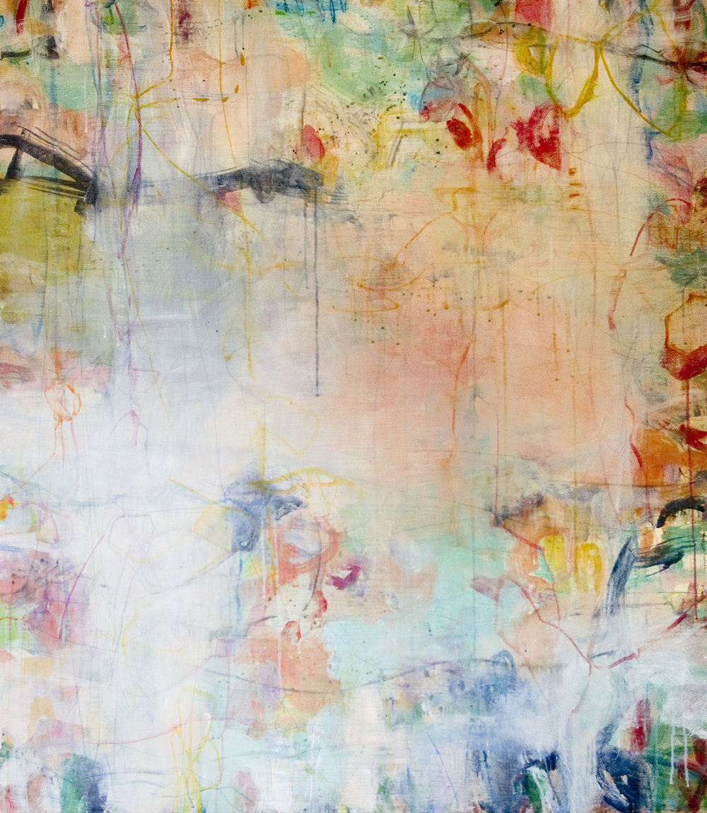 """Liberty Land  64""""x56"""" mixed media on panel  SOLD   L Ross Gallery"""