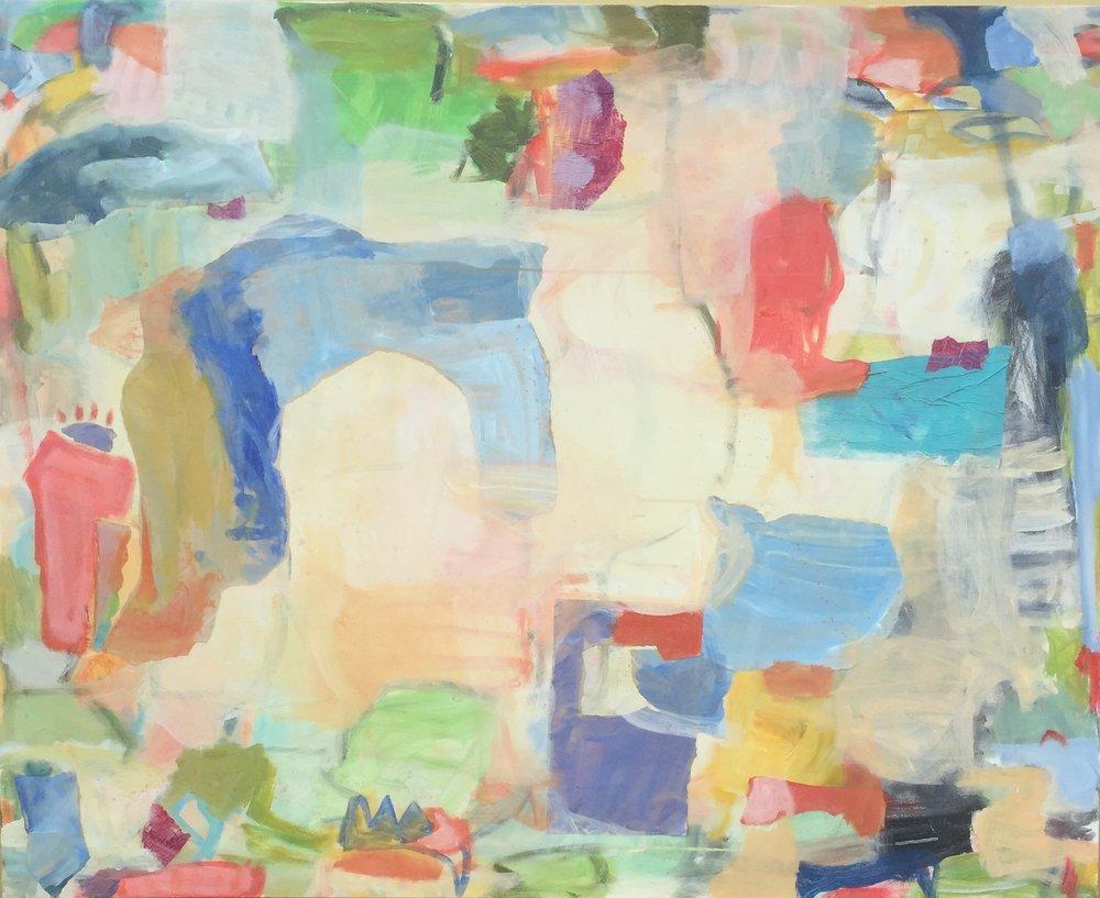"Trellis  36""x48"" mixed media on canvas  SOLD   Blue Print Gallery"