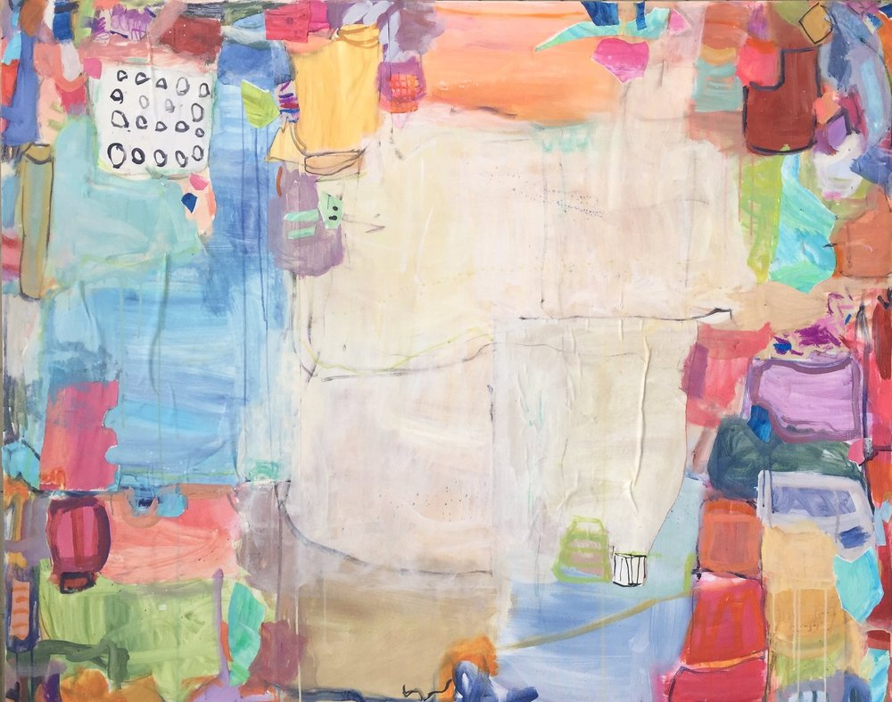 "Tadeschi  48""x60"" mixed media on canvas  SOLD   Blue Print"