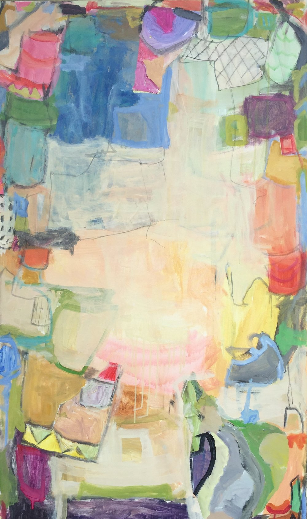 """Traveling Circus I  36""""x60"""" mixed media on canvs  SOLD"""