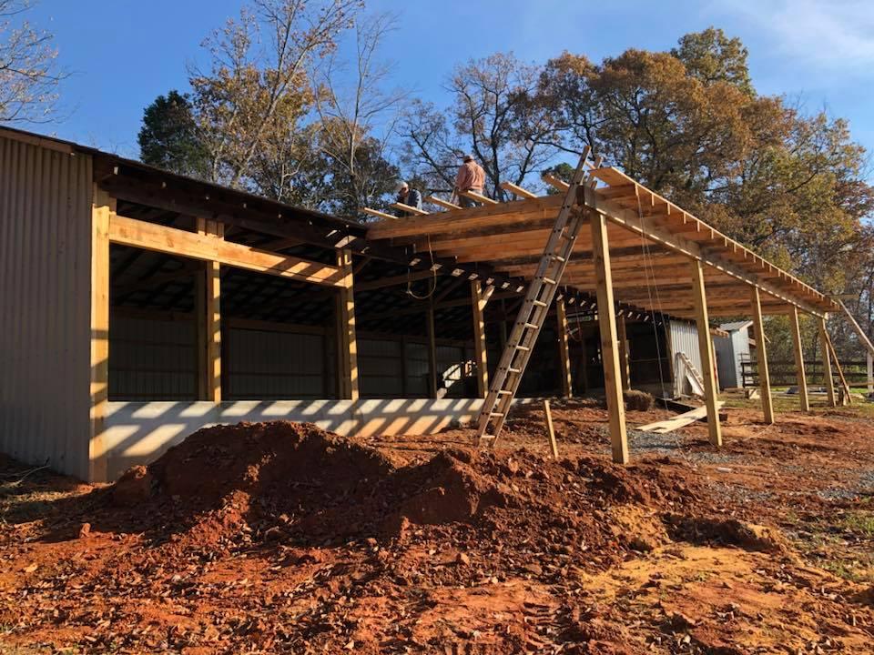 barn renovation at Historic Venue