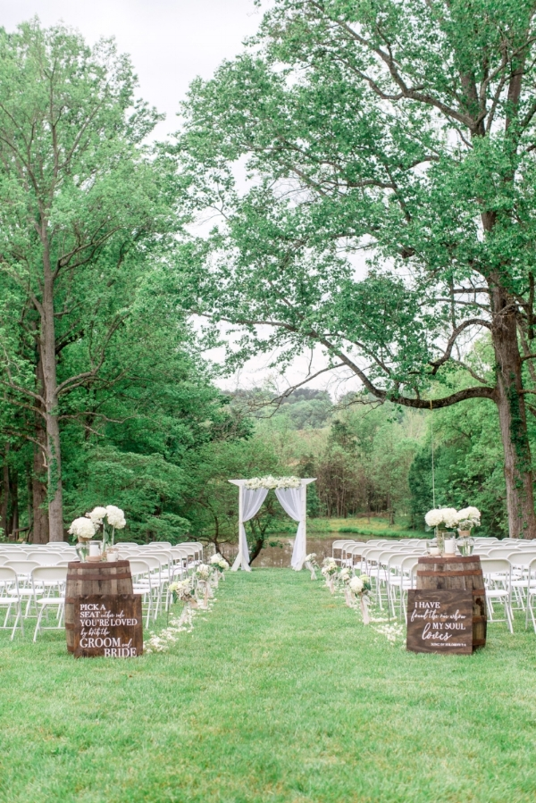 outdoor farm wedding at old holler farm in rural hall, nc