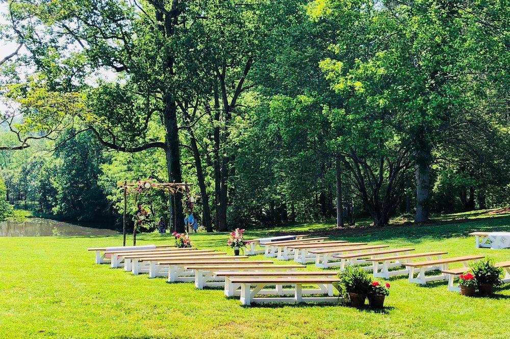 outdoor farm wedding near Winston Salem, nc