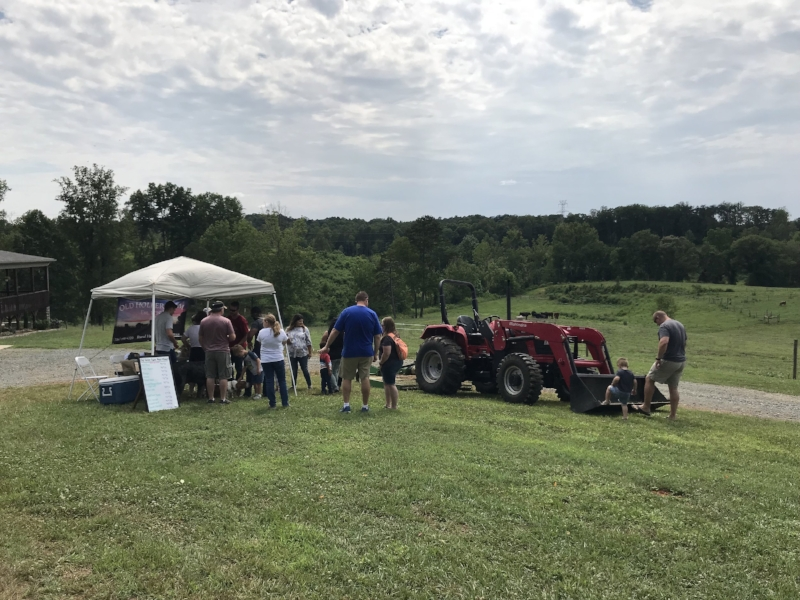 free community event at Old Holler Farm in Rural Hall, NC