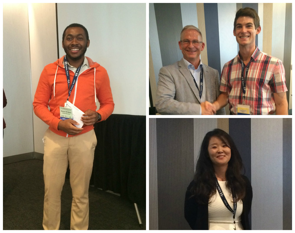 Okenna Obi-Nyoku, McGill University (1st Place, left), Christopher Hey, Carleton University (2nd Place, top right, receiving award from Sylvis President Mike Van Ham), and Rooney Kim Lazcano, Purdue Univeristy (bottom right)