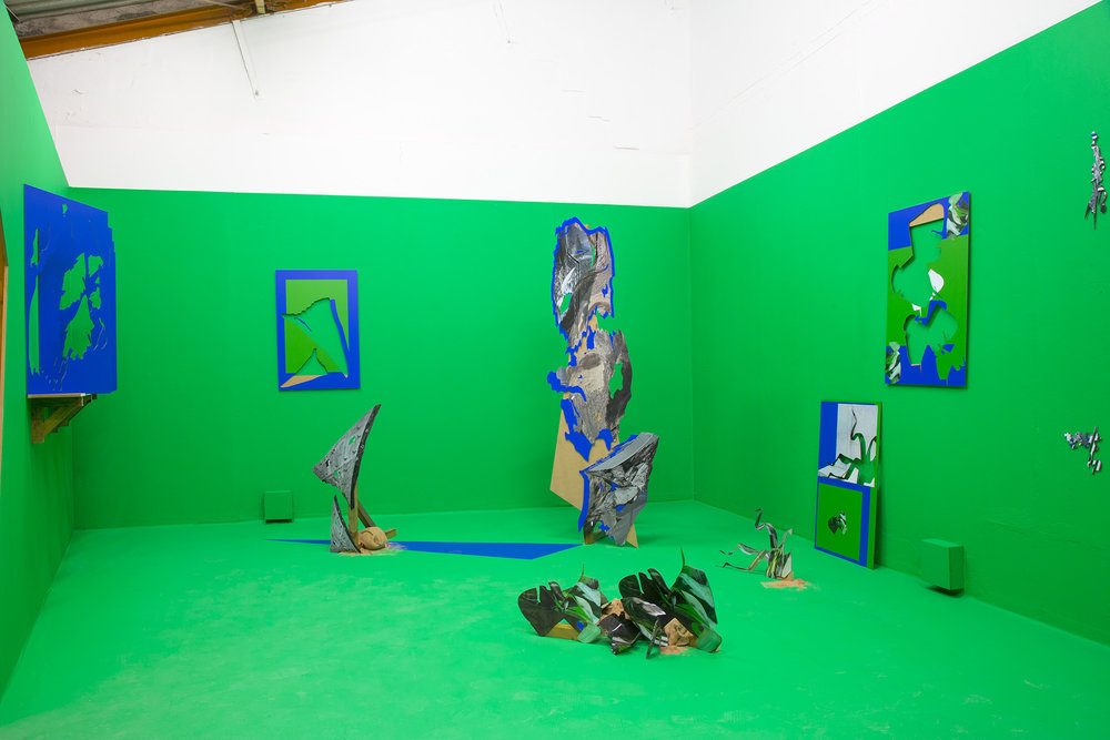 Installation shot of Felicity Hammond's  Property  at Generator Projects