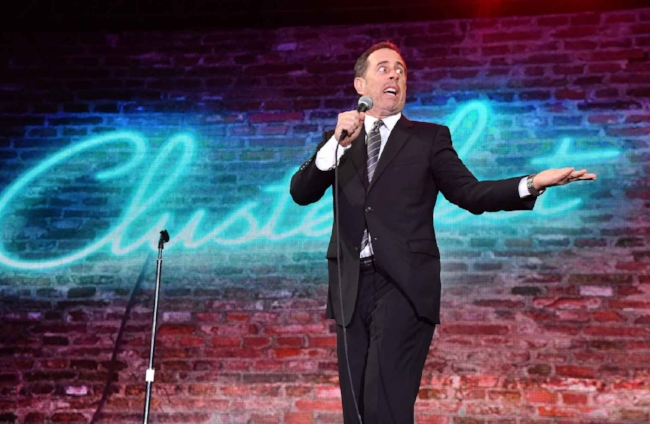 SAN FRANCISCO, CA - JUNE 04, 2017:  Comedian Jerry Seinfeld performs onstage at the Colossal Stage during Colossal Clusterfest at Civic Center Plaza and The Bill Graham Civic Auditorium on June 4, 2017.