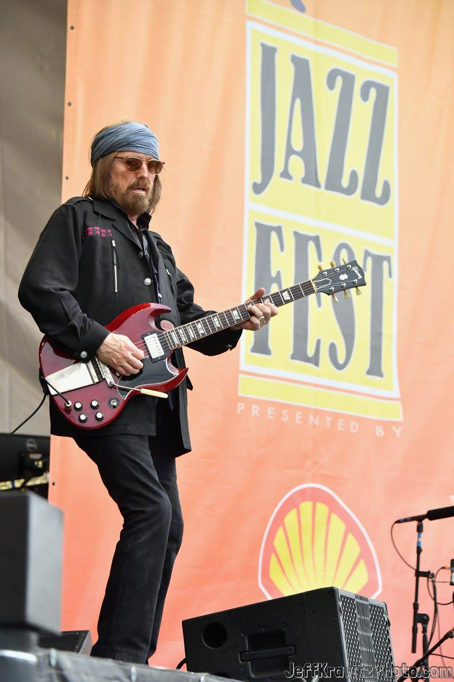 Tom Petty performs onstage during day 3 of the 2017 New Orleans Jazz & Heritage Festival at Fair Grounds Race Course on April 30, 2017 in New Orleans, Louisiana.