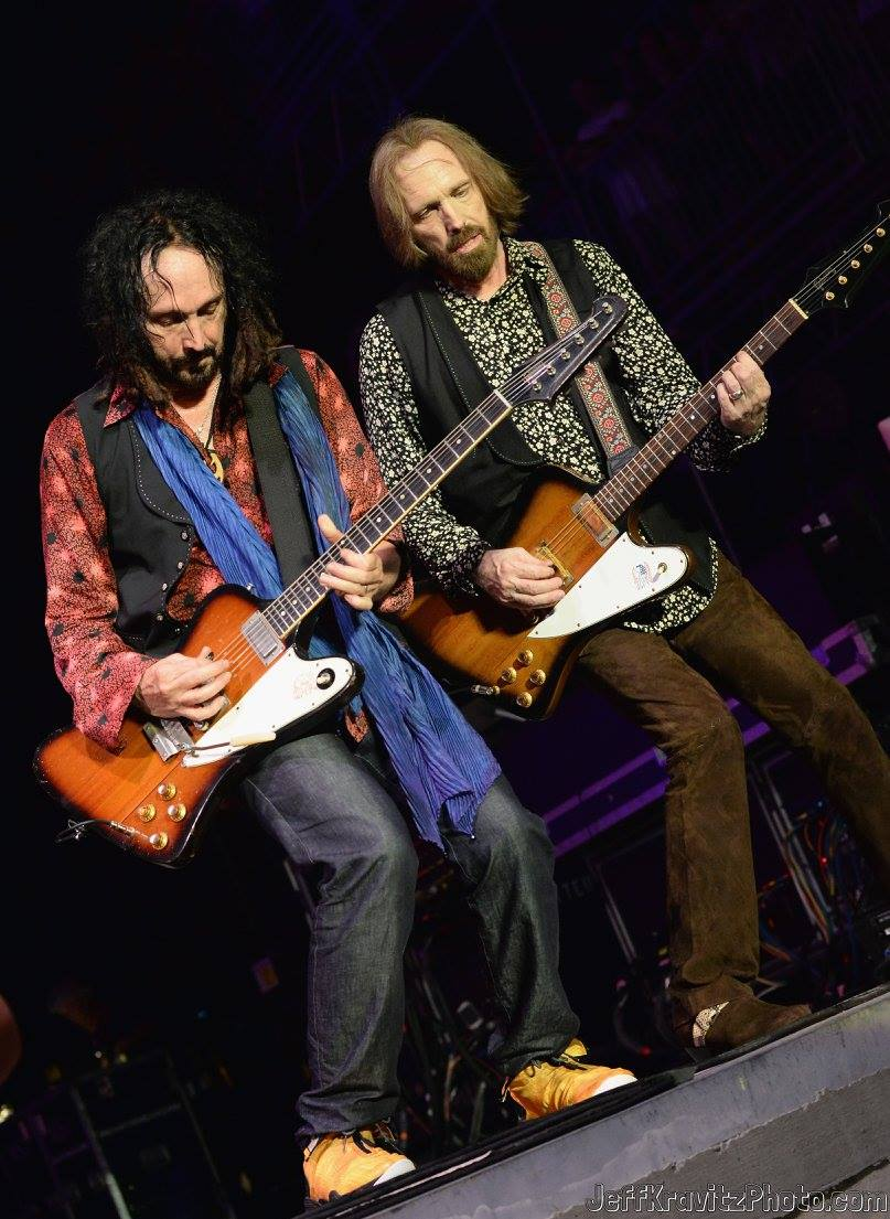 Mike Campbell and Tom Petty perform onstage during day 4 of the 2013 Bonnaroo Music & Arts Festival on June 16, 2013 in Manchester, Tennessee.