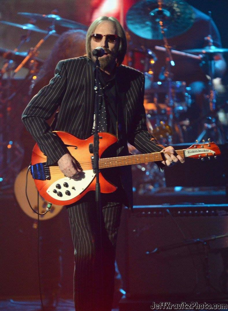 Tom Petty performs at the 28th Annual Rock and Roll Hall of Fame Induction Ceremony at Nokia Theatre L.A. Live on April 18, 2013 in Los Angeles, California.