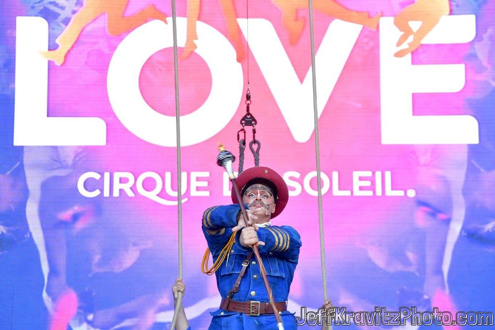 Cirque du Soleil performs on Downtown Stage during day 3 of the 2017 Life Is Beautiful Festival on September 24, 2017 in Las Vegas, Nevada.