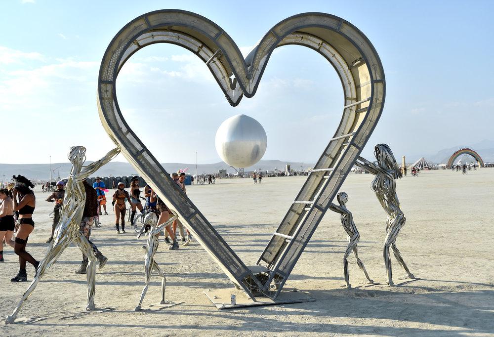 Burning Man is full of people pushing LOVE
