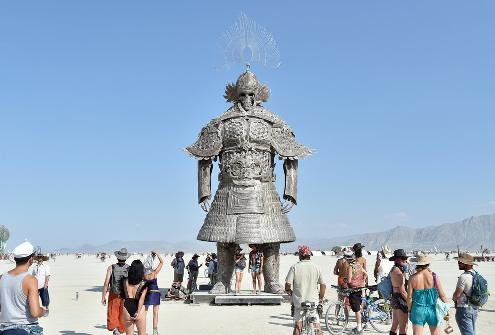This was a popular spot for up skirt shots of the skeleton samurai warrior, which even in this #metoo era people found amusing