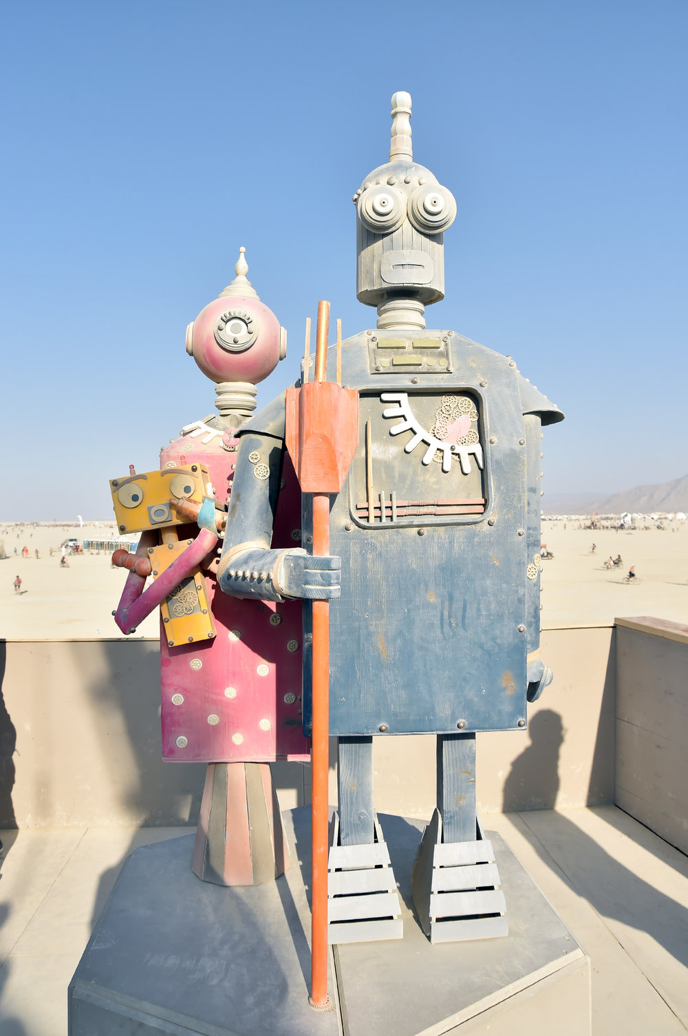 Burning Man Gothic, these two went up in flames