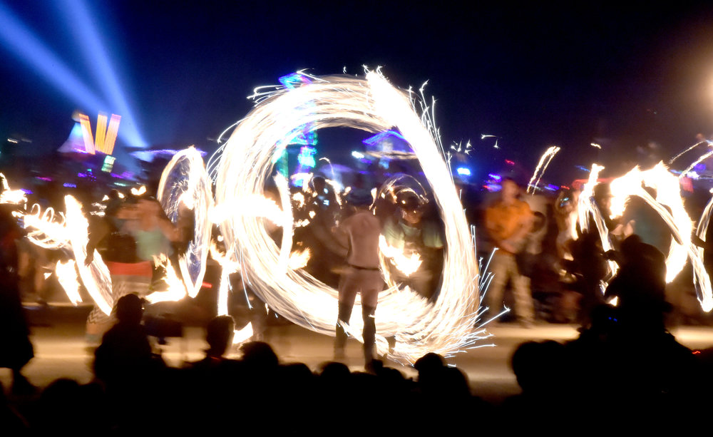 Here's another one for you Steve...the fire dancers before the Burn going off