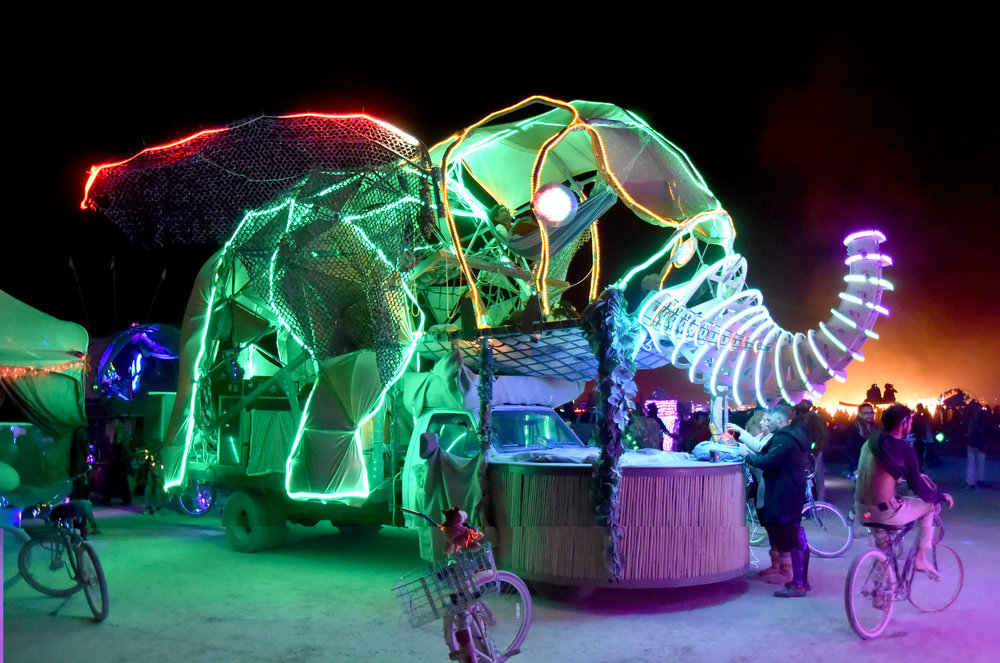 The art cars get better every year...before LED they lit up the Burn with fire and guns...we've evolved