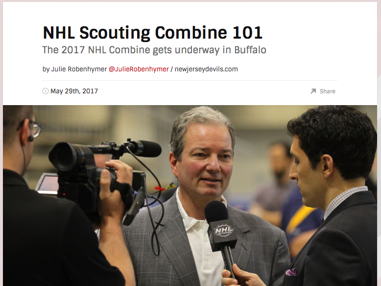 Feature Article - https://www.nhl.com/devils/news/nhl-scouting-combine-101/c-289652318