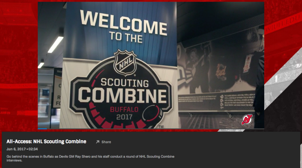 All Access Video - https://www.nhl.com/devils/video/all-access-nhl-scouting-combine/t-277437418/c-52172903