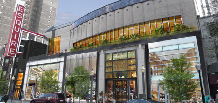 Esquire Theater <br> 58 E Oak, Chicago <br> 48,000 SF Retail