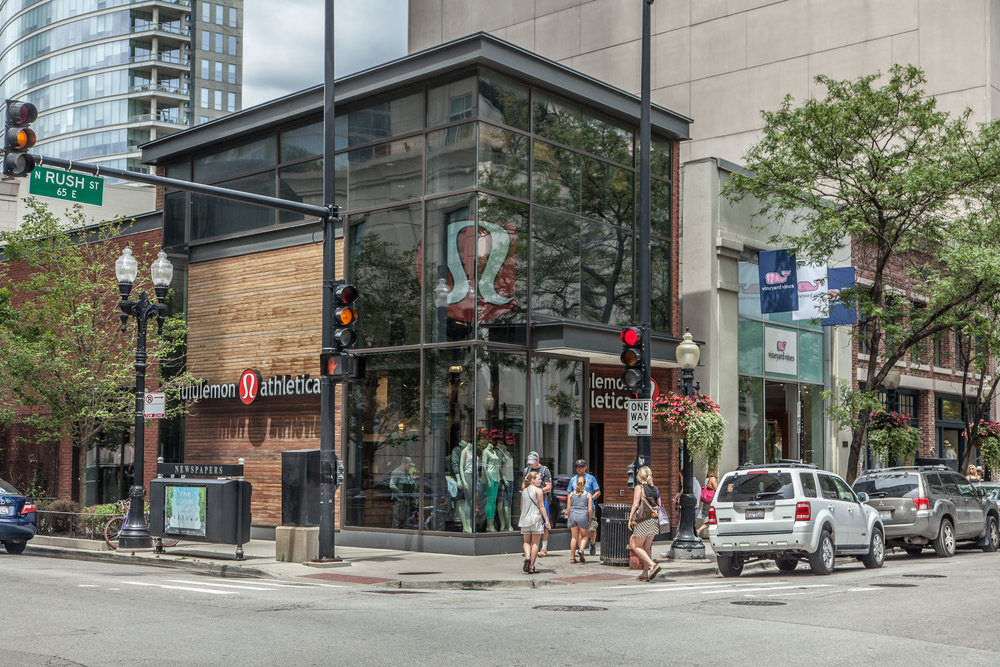 Lululemon Athletica <br> 930 N Rush, Chicago <br> 2,930 SF Retail