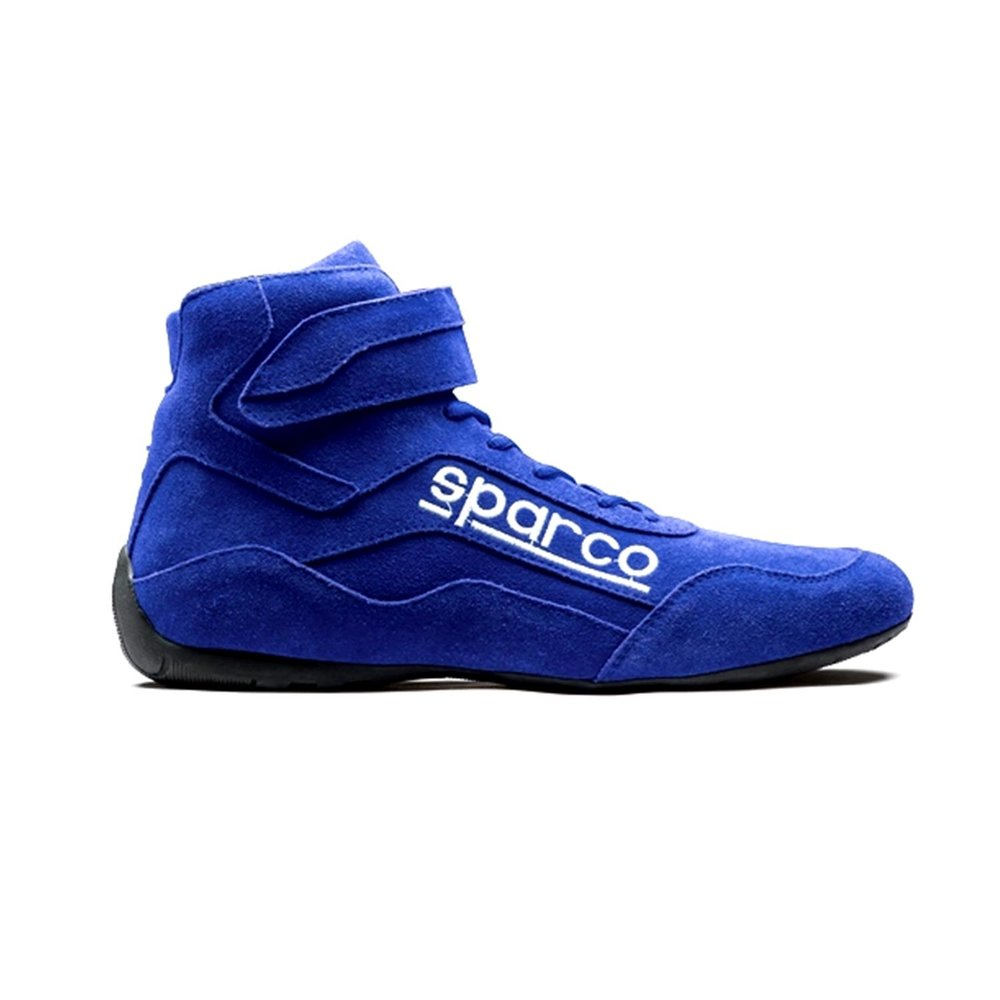 Sparco Race 2 Race Shoe...$100 - The shoe is not made of a one piece kangaroo leather but it is a great, tough shoe and at a great price $100. We have found the foot platform fits most feet, even those customers with wider feet. Available in red, blue and black.