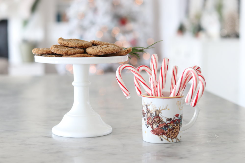 Don't you just love the aroma of holiday treats baking in your home? Or at least a scented candle. Right? For the real thing, I shared a favorite of ours last week. Ginger Crinkles! You can find the recipe  her e