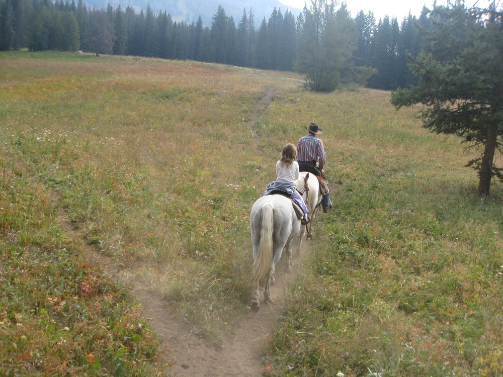 Trail ride at Togwotee Mountain Lodge