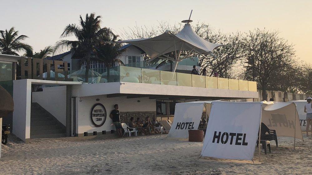 The beach at Hotel Tropical Inn