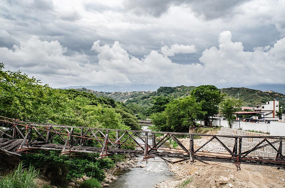 The old bridge that crossed the Rio de Oro (River of Gold) in Girón.