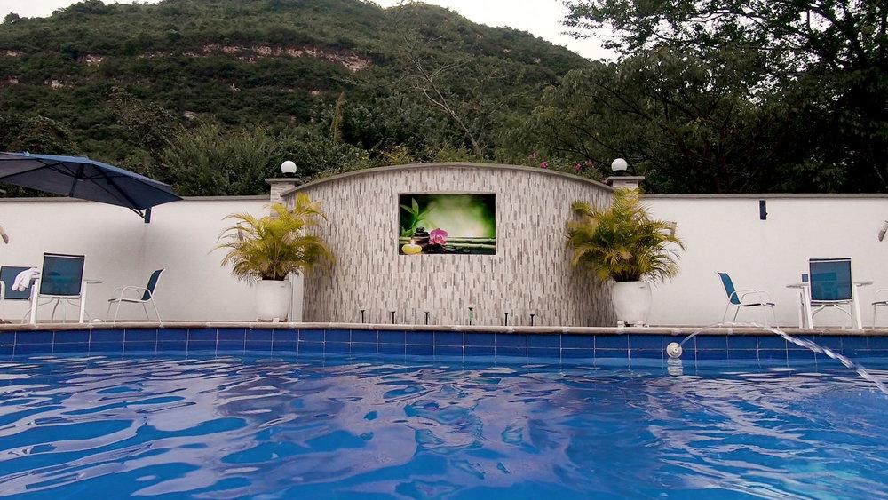 The pool at the Hotel Santa Catalina.