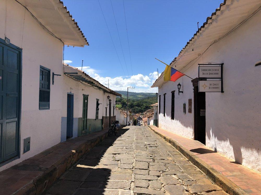A street in Barichara