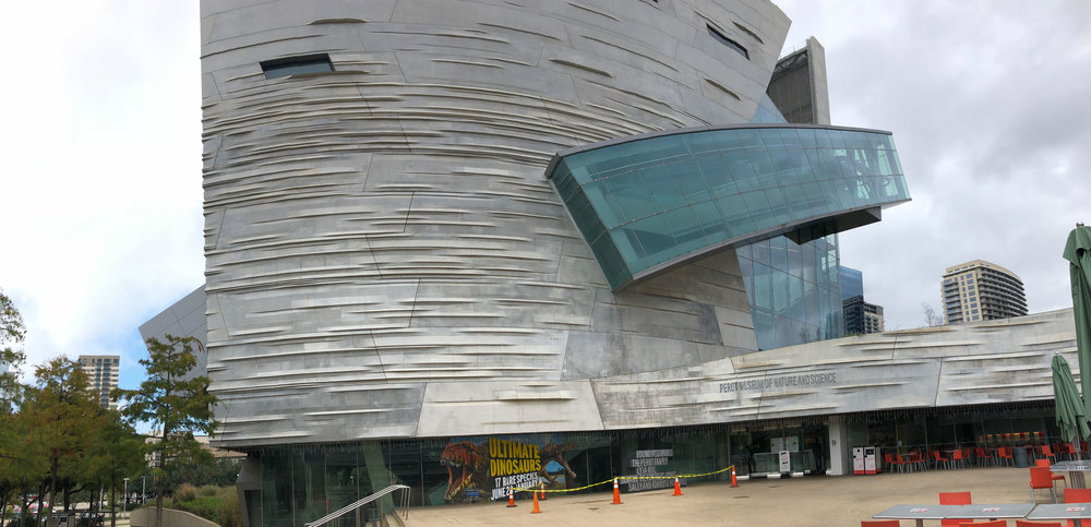 Perot Museum of Nature and Science in Dallas, Texas.