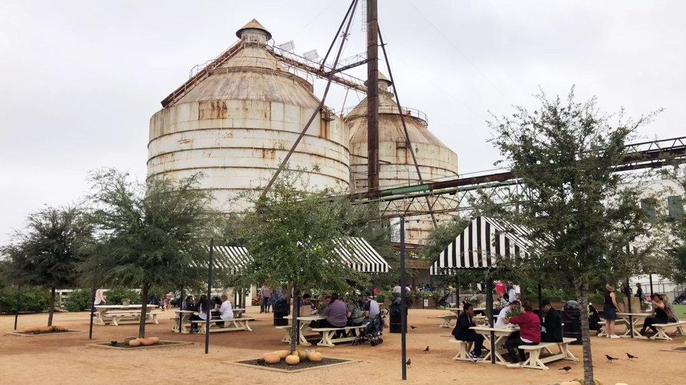 The Silos at Magnolia Market in Waco, Texas.