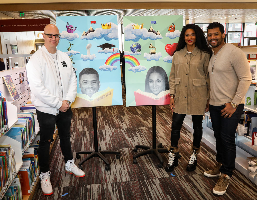 Keegan Hall, Ciara & Russell Wilson