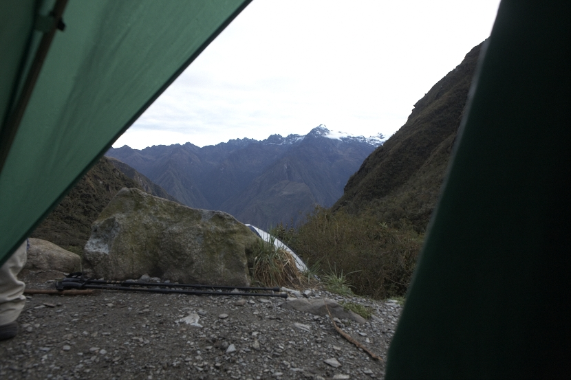 View from my Tent (2nd campsite)