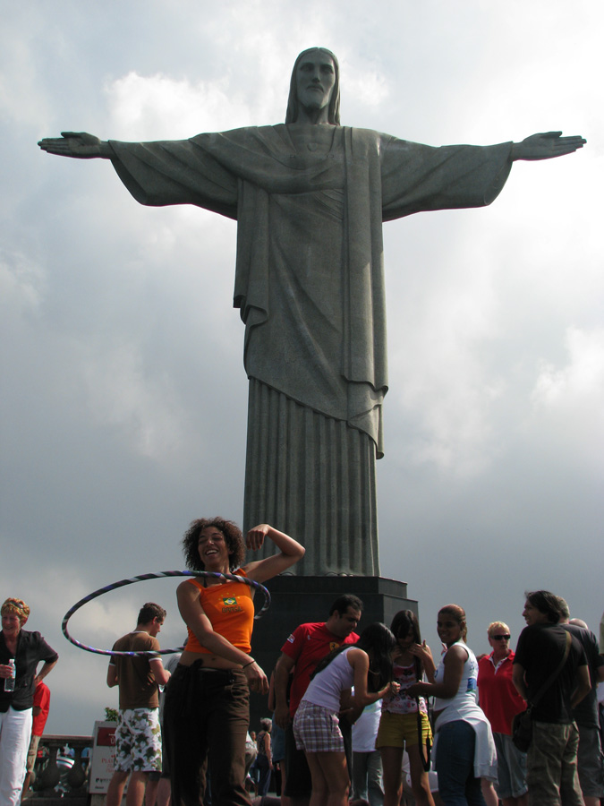 At the base of Christo De Redentor (Christ The Redeemer statue in the Tijuca forest, Rio De Janeiro)