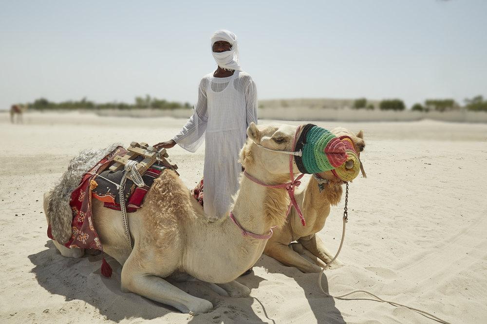 Sudanese Camel Caretaker (near Mesaieed, Qatar)