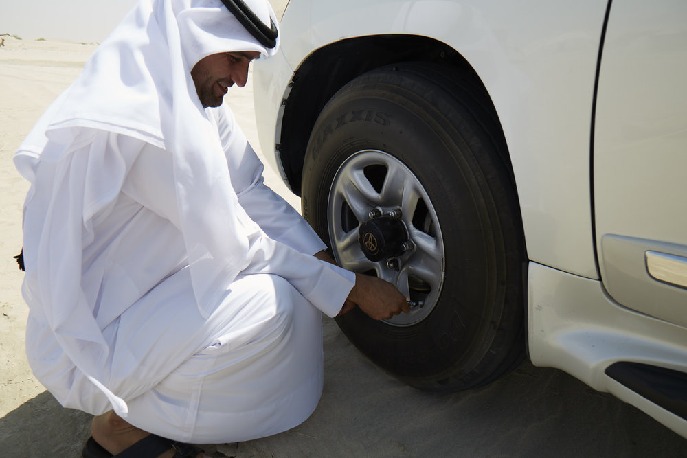 Amir, deflating the tires to 10PSI