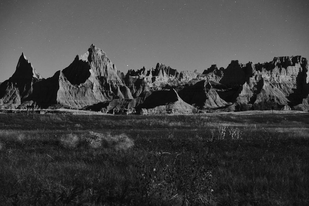 Badlands National Park, South Dakota, shot from my campsite