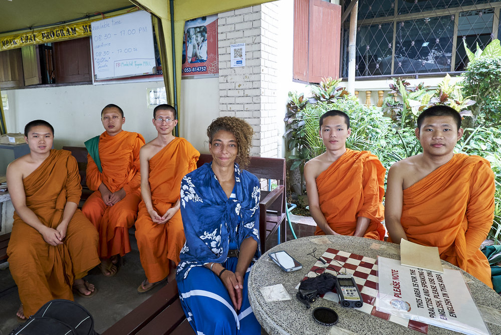 Yours Truly, at Wat Chedi Luang's Monk Chat