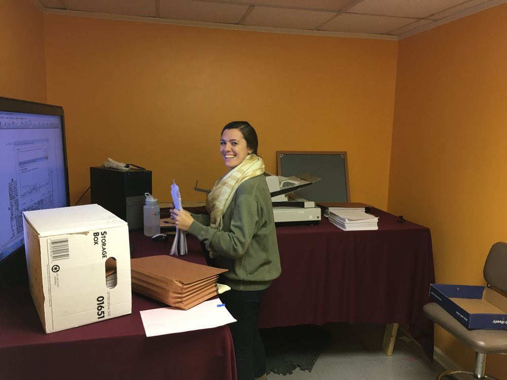 Amanda, one of our Scanning Technicians working hard scanning files for one of our great Document Scanning Customers.