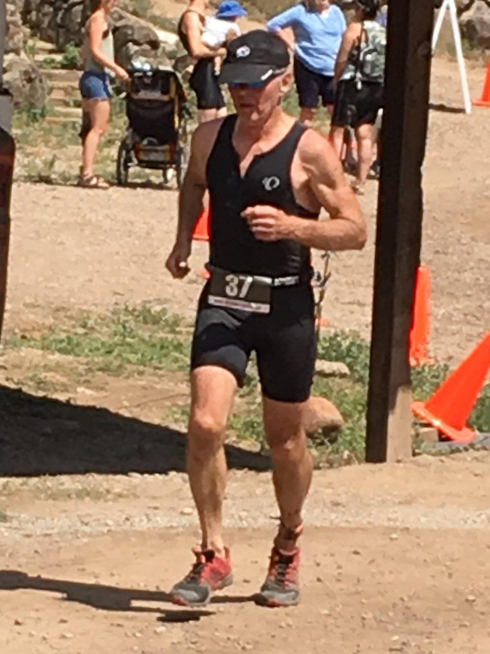 Dr. Kurt finishing the Aspen Valley Xterra race