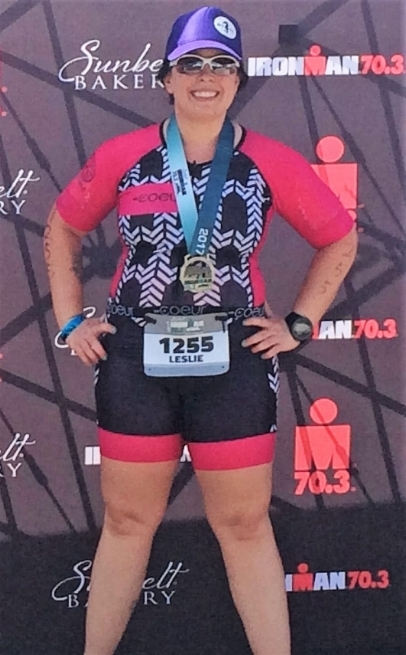 Leslie, after her 2nd 70.3 race!