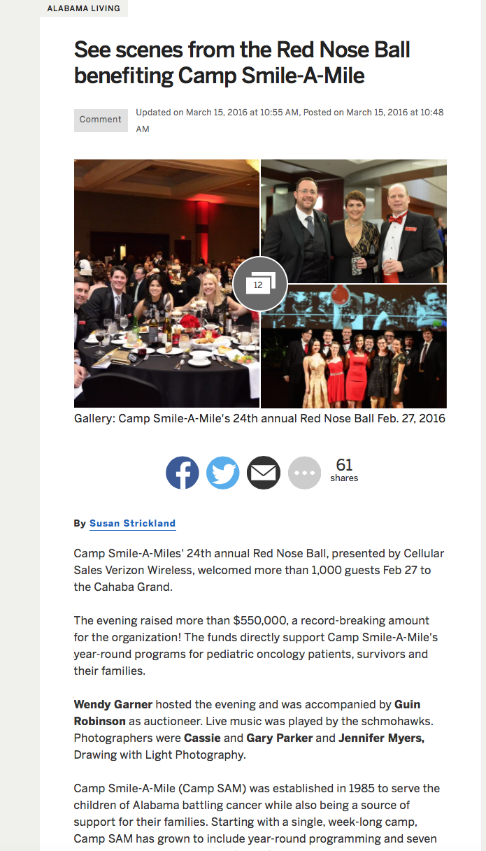 Red Nose Ball Article, AL.com