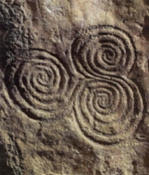 Celtic carvings.