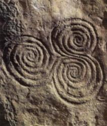Celtic carvings.