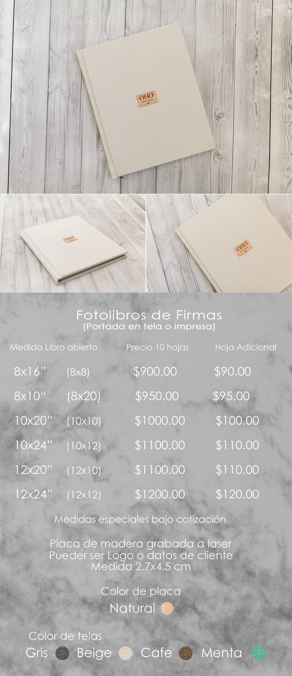 Fotolibro de firmas