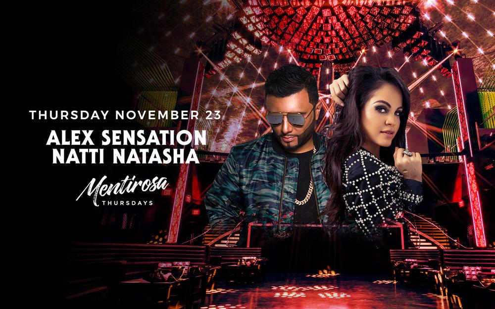 Alex Sensation & Natti Natasha - Thurs. Nov 23rd
