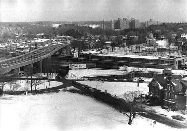 Morton St. overpass and the old Forest Hills Station. Late 1980s.